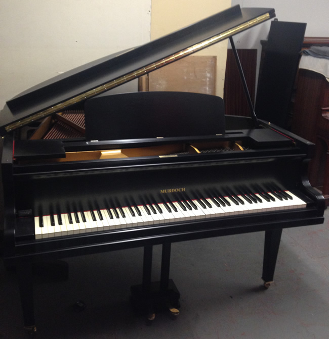 Murdoch 4ft Baby grand in a Black satin finish.
